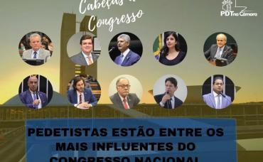 Dez pedetistas estão entre os parlamentares mais influentes do Congresso