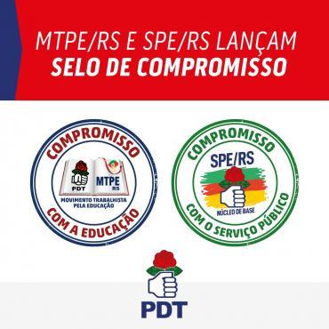 MTPE/RS e SPE/RS LANÇAM SELOS DE COMPROMISSO