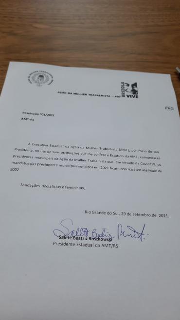 AMT prorroga os mandatos das presidentes municipais